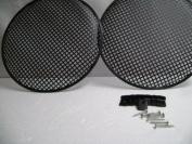 (2) Two 25cm Metal Mesh Speaker Grill w/ Mesh Speaker Clamps & Screws