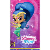 New SHIMMER AND SHINE PLASTIC TABLE COVER ~ Birthday Party Supplies Decorations Pink