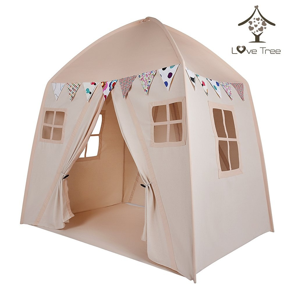 love tree Kids Indoor Princess Castle Play TentsOutdoor Large Playhouse Secret Garden Play Tent - Portable for Indoor and Outdoor Fun Plays Beige One by ...  sc 1 st  Fishpond.com & love tree Kids Indoor Princess Castle Play TentsOutdoor Large ...