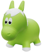 Farm Hoppers Inflatable Bouncing Green Horse with Pump