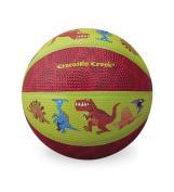Crocodile Creek Dinosaurs Kid-Sized Basketball, Lime Green/Red, 14cm
