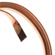 Artistic Wire 21-Gauge Flat 5mm by .75mm, 0.9m, Bare Copper