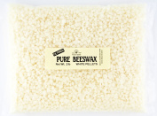 Stakich Pure White BEESWAX Pellets - 100% Natural, Cosmetic Grade, Premium Quality - 0.9kg