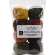 Wistyria Editions Wool Roving (8 Pack), .650ml, Timberland