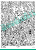 The Original Doodle Art Bugs N' Birds Adult Colouring Poster