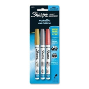 Sharpie Paint Metallic Markers - Extra Fine Marker Point Type - Gold, Silver, Copper Rose Ink - 3 / Pack
