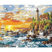 Plaid Creates Paint by Number Kit, Craggy Cove, 22059 Size 41cm by 50cm