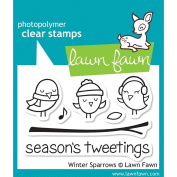 Lawn Fawn Clear Stamps - Winter Sparrows #LF565