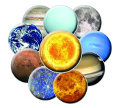 10 Planetary Fridge Magnets - Planet Magnet Set - Space Magnet Set - Solar System Magnets - Astronomy Magnets
