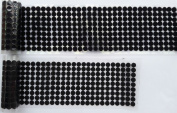 HomeABC Hook & Loop Fastener Dots Coins Adhesive Backed Self Adhesive Dots Tapes, 0.39 inch Diameter(10mm) , 500 Pair, Black