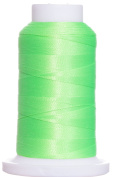1M-2361 BFC Poly Machine Embroidery Thread, 40 Wt, 1000m, Neon Lime