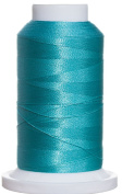 1M-3082 BFC Poly Machine Embroidery Thread, 40 Wt, 1000m, Bright Aqua