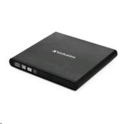 Verbatim 98938, External Slimline Mobile CD/DVD Writer USB 2.0 Black