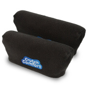Universal Crutch Underarm Pad Covers - Luxurious Soft Fleece with Sculpted Memory Foam Cores