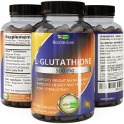 Pure Reduced Glutathione Supplement Whitening Pills #1 Potent Antioxidant Anti-ageing Reduce Dark Spots Healthy Detox Powerful Amino Acids for Brain Skin and Immune System Women and Men