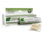 Hemorrhoid Treatment Cream - HemoTreat 30ml Tube with Internal Applicator - FDA LISTED for Fast Safe Effective Hemorrhoidal Symptom Relief, Ointment for INTERNAL and EXTERNAL Haemorrhoids