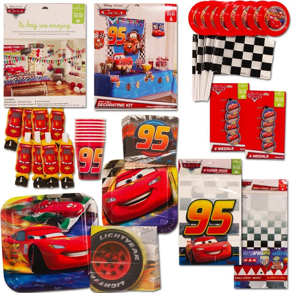 Disney Cars Party Supplies Ultimate Set 134 Pcs Birthday