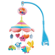 HOSIM Baby Cute Cartoon Animals Lullaby Nursery Crib Cot Music Box Baby Gift Musical Mobile with 20 melodies