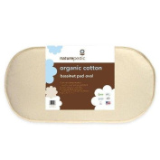 Naturepedic MBV1329 Organic Cotton Oval Bassinet Mattress Pad in Small Size