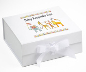 New Baby Keepsake Box, Jungle Parade Keepsake Box,baby gifts,baby memory box