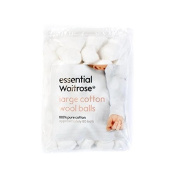 Baby Large Cotton Wool Balls essential Waitrose 80 per pack