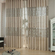 QHGstore New Elegant Leaf Tulle Door Window Curtain Drape Panel Sheer Scarf Valances,It contains only window screening, not including curtains