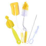 Baby Bottle and Teat Cleaning Brushes Set - Set of 5