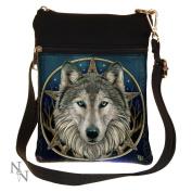 Wild One Wolf by Lisa parker Shoulder Bag