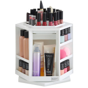 Beautify 360° Rotating Makeup Cosmetic Storage Organiser - White