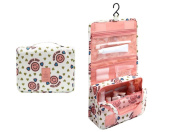 CINEEN Cosmetic Hanging Wash Bag Makeup Case Multifunction Foldable Beauty Pouch Toiletry-Pink
