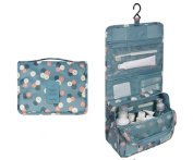 CINEEN Cosmetic Hanging Wash Bag Makeup Case Multifunction Foldable Beauty Pouch Toiletry-Green