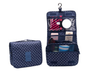 CINEEN Cosmetic Hanging Wash Bag Makeup Case Multifunction Foldable Beauty Pouch Toiletry-Blue