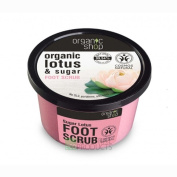Organic Shop Foot Scrub Natural Sugar Lotus 250ml