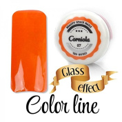 Colour Line - 07 Carnelian glass effect Coloured uv gel - 5 ml