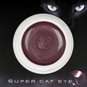 Super Cat Eye colour Uv Gel - 5 ml Magnetic Claw Reconstruction and nail art Stamp Magnetic Magnet effect brown