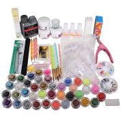 Nail art Tools - TOOGOO(R)Nail art kits Nail Care Nail Design Nail Acrylic Powder Brush Glitter Tip Tools