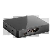 LINDY 2 Port 4K HDMI UHD Video Splitter - Black