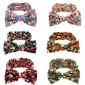 Txian 6PCS Baby And Toddler Turban Headband Cute Bowknot Hair Band Assorted-Colour Headdress