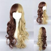 Women's Wig Cosplay Wig Brown Blonde Wavy Approx. 60 cm