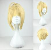 Women's Wig Cosplay Wig Fate Zero Sabre Blonde 45 cm