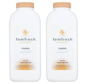 Femfresh Lightly Fragranced Absorbent Body Powder For Intimate Hygiene - 200G - Pack of 2