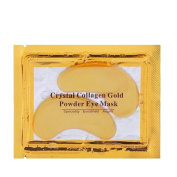 New Comfortable Women 10pcs Gold Crystal Collagen Eye Mask Eye Patches Skin Care