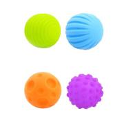 Kids Soft Rubber Balls Massage Light Weight Hand Gripe Ball 6cm 4 Colours