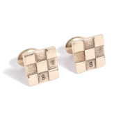 8th Anniversary Solid Bronze Cufflinks with Stamped 8 - Perfect 8th Year Anniversary Gift Idea