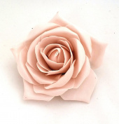 Nude Open Rose Artificial Hair Flower Clip Buttonhole Corsage by Fabulous Fascinators