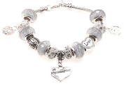 Granddaughter 50th Birthday Charm Bracelet with Gift Box Women's Jewellery