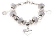 Middle Sister 50th Birthday Charm Bracelet with Gift Box Women's Jewellery