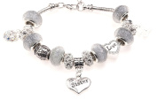 Sister 50th Birthday Charm Bracelet with Gift Box Women's Jewellery