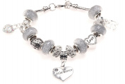 Little Sister 50th Birthday Charm Bracelet with Gift Box Women's Jewellery