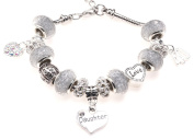 Daughter 40th Birthday Charm Bracelet with Gift Box Women's Jewellery
